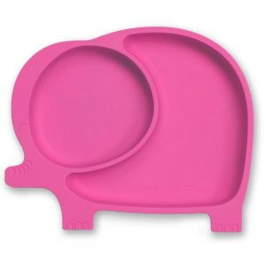 Silicone elephant toddler suction plate