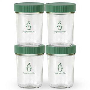 Kids baby food and smoothie jars