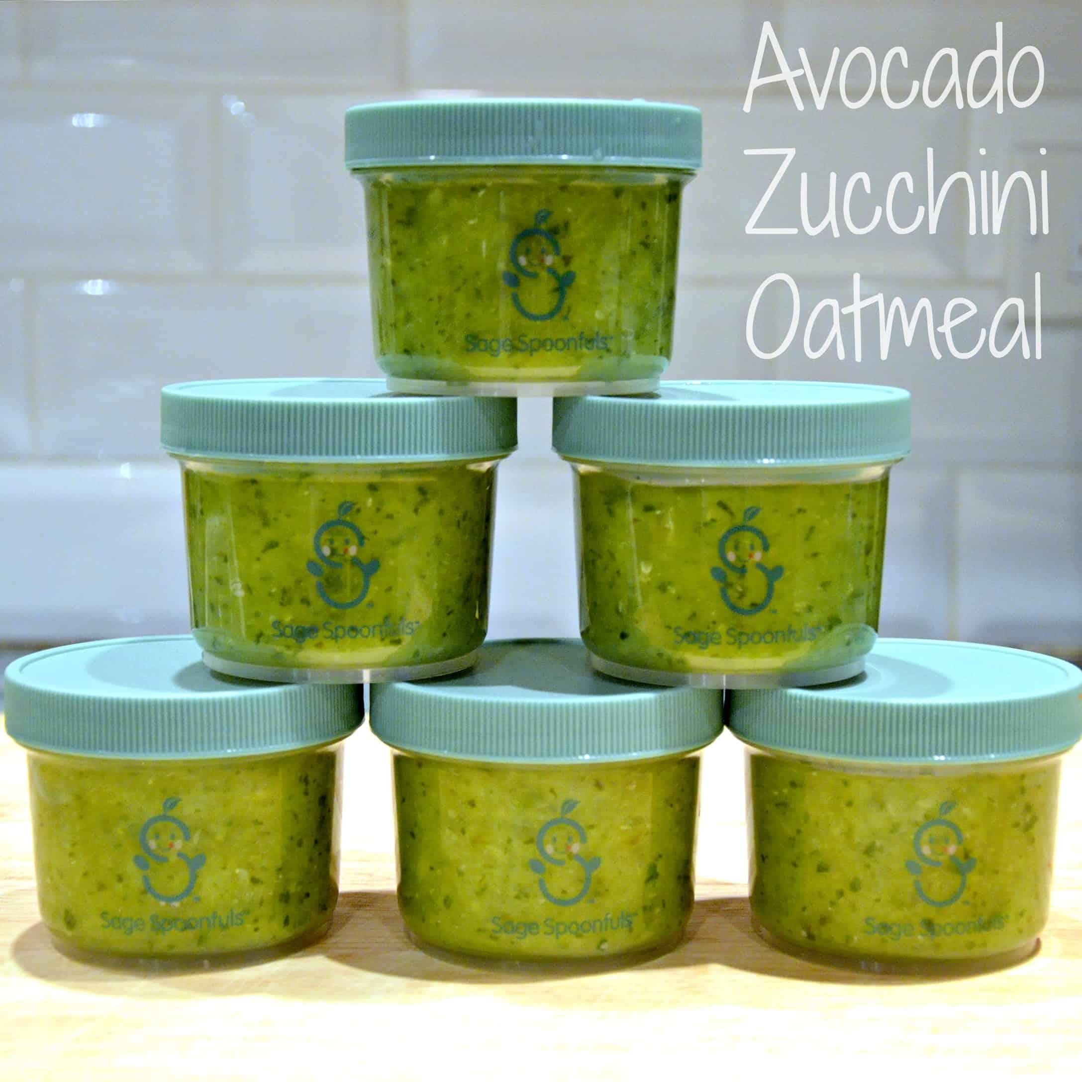 avocado zucchini oatmeal Stage 1 baby food recipe